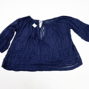 Free People Blue One Morning Light Top XS